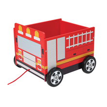 Load image into Gallery viewer, Pull-Along Fire Truck Wagon