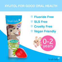 Load image into Gallery viewer, Fluoride-Free Strawberry Infant and Toddler Toothpaste (0-2 Years) With Xylitol