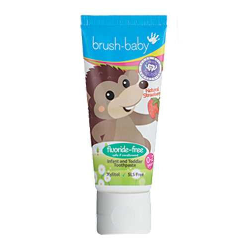 Fluoride-Free Strawberry Infant and Toddler Toothpaste (0-2 Years) With Xylitol