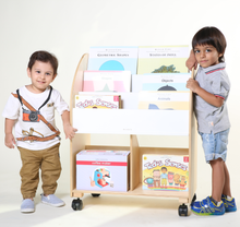 Load image into Gallery viewer, Kid's Wooden Bookshelf