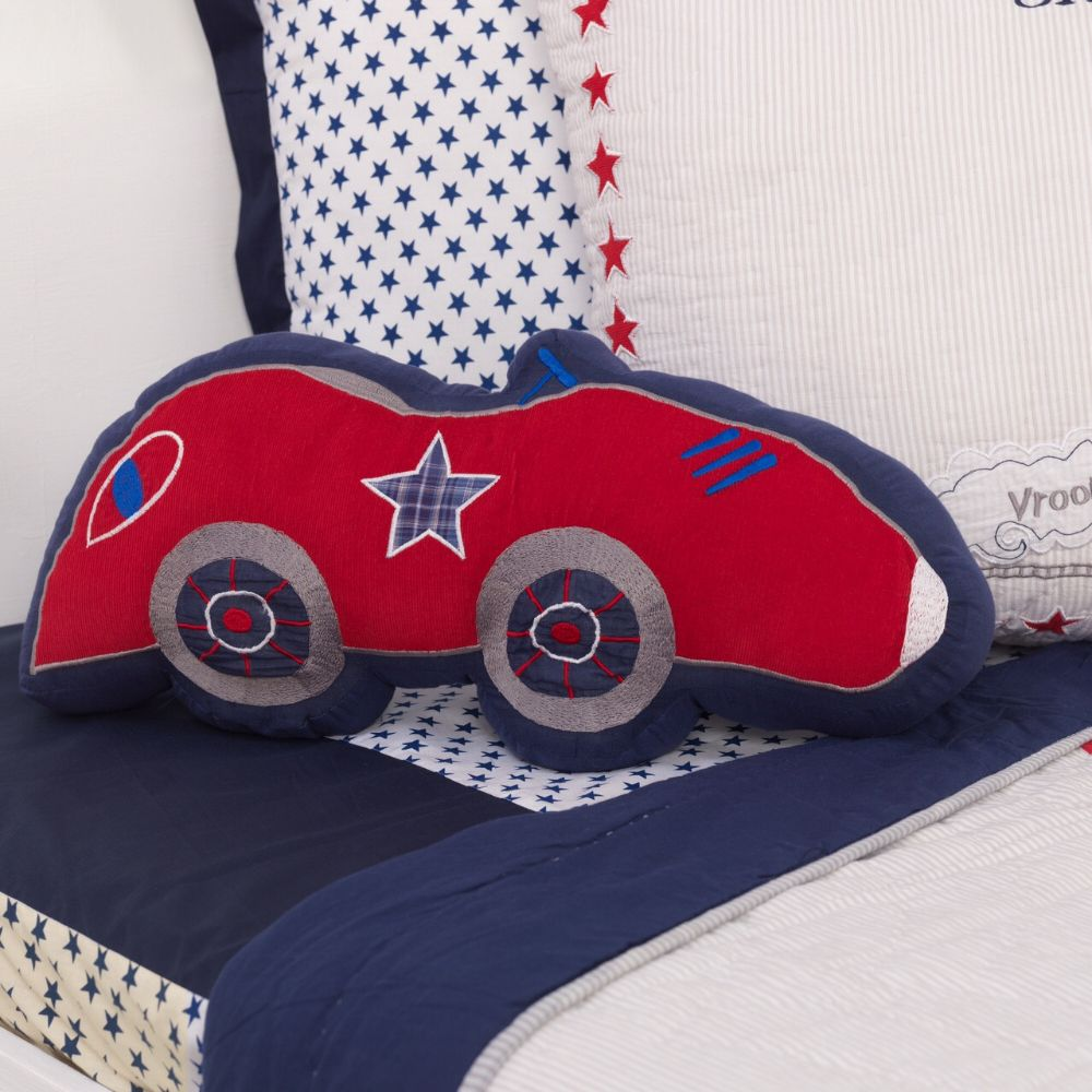 Race Car Decorative Pillow