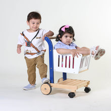Load image into Gallery viewer, Kid's Wooden Shopping Cart