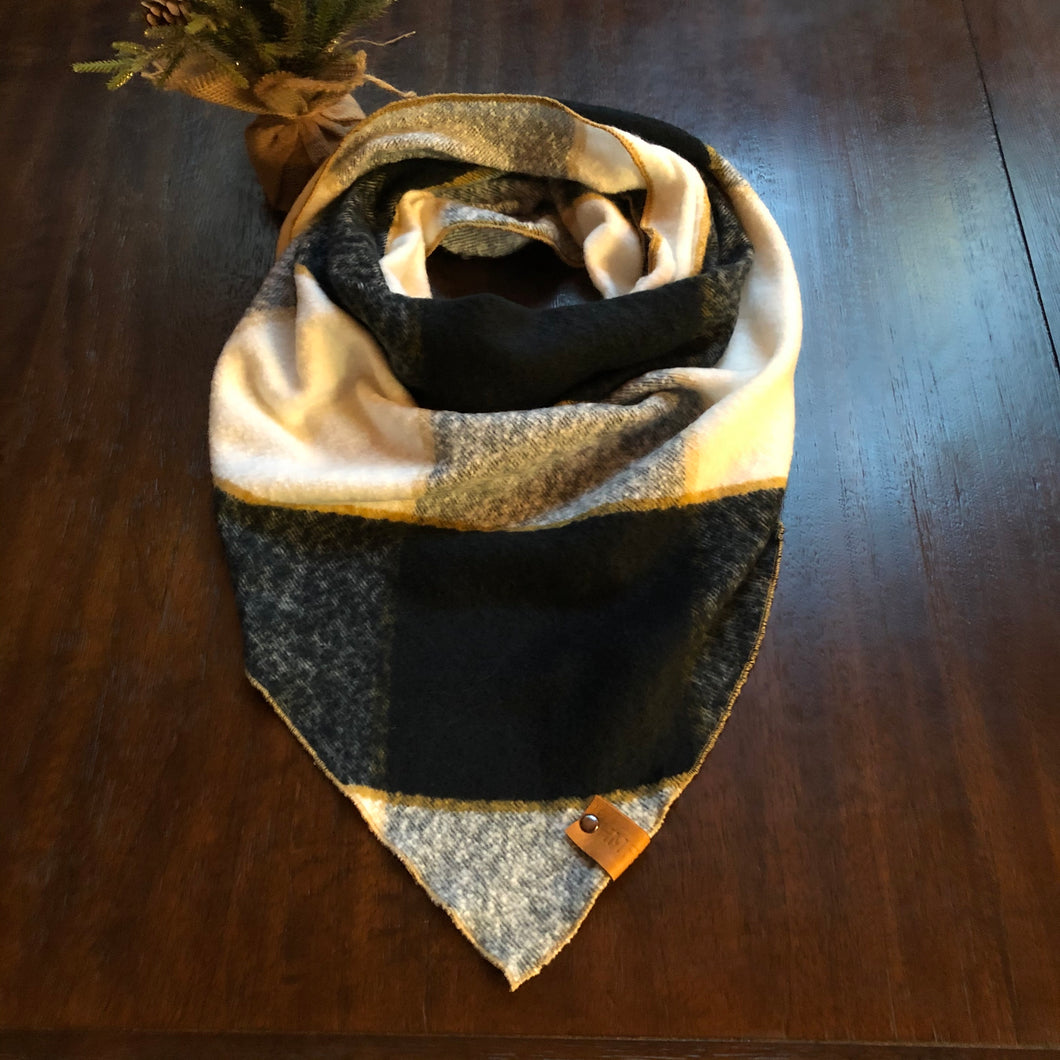 Buffalo Check Gold Trim-Human Scarf