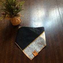 Load image into Gallery viewer, Buffalo Check with Gold Trim-Adjustable Pet Bandana