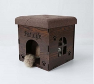Collapsible Designer Cat House Furniture Bench