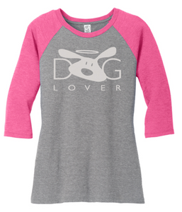 T-shirt: Dog Lover Raglan (women's)