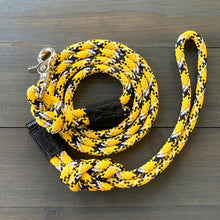 Load image into Gallery viewer, Gold Reflective Quick Clip Leash (5 ft)