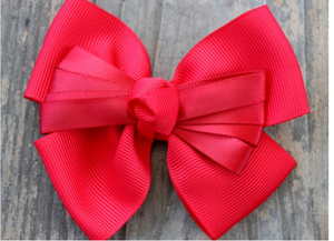 Tuxedo Red Dog Collar Bow