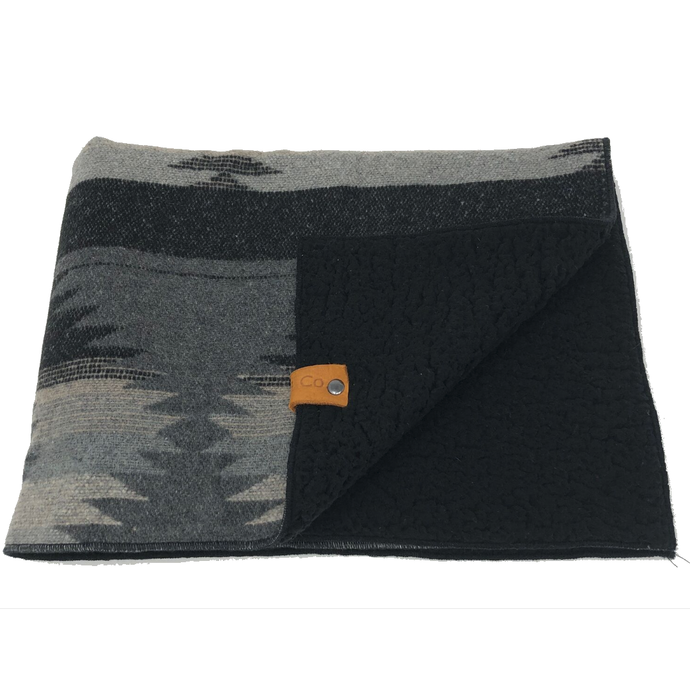 Charlie Collection Grey - Blanket Bed With Sherpa