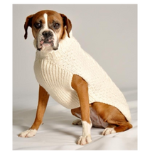 Load image into Gallery viewer, 100% Wool Cable Knit Sweater - Natural