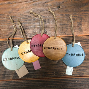 CYNOPHILE-Leather Script Ornament