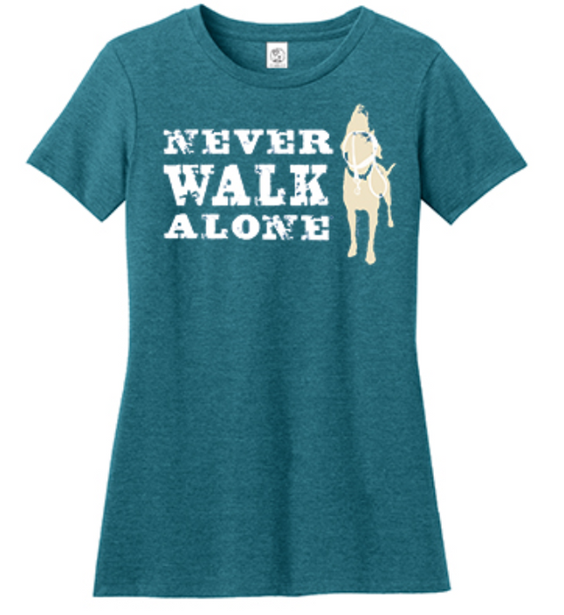 T-shirt: Never Walk Alone women's (teal)