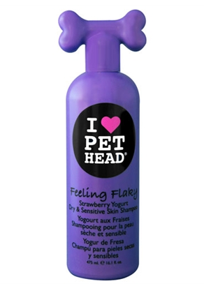 Pet Head Feeling Flaky for Dry & Sensitive Skin - 16.1 oz Strawberry Yogurt