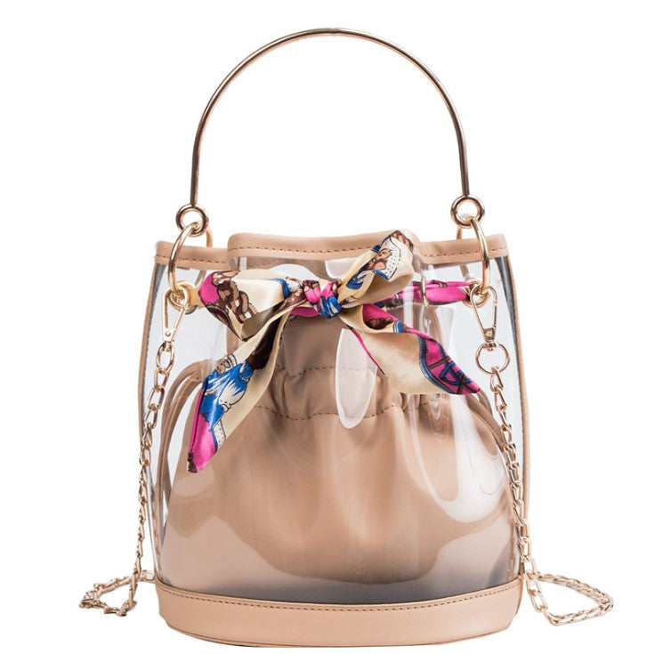 Beige Bucket bag