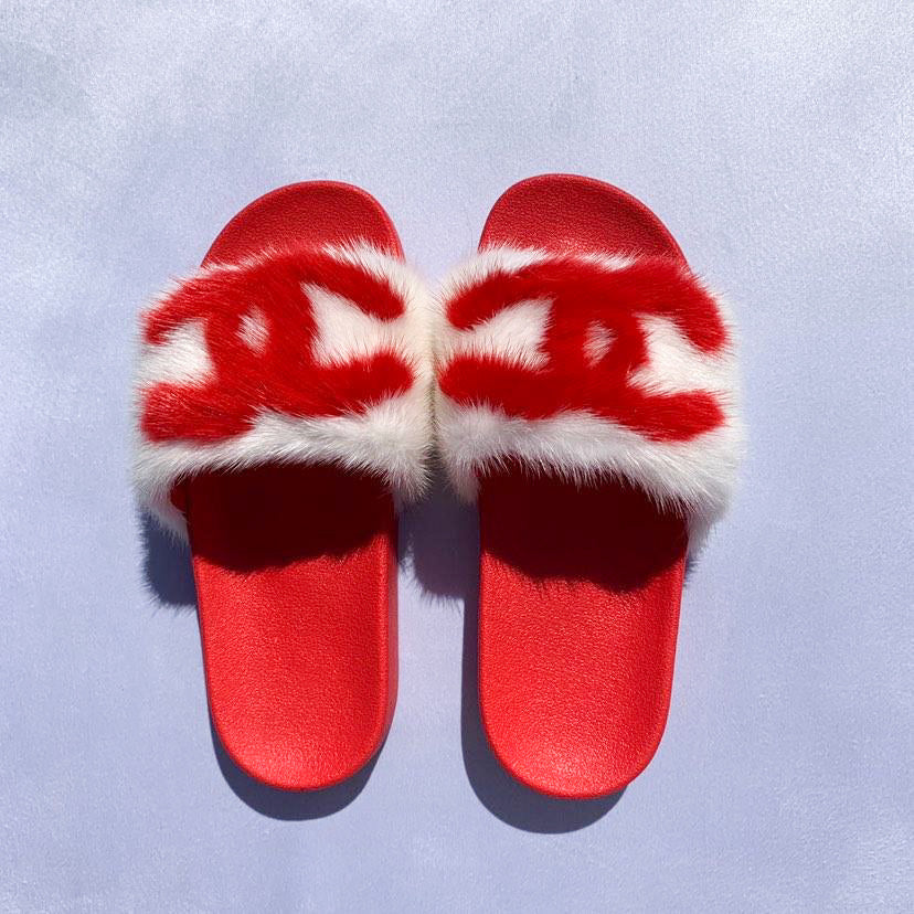 White and red CC Slide