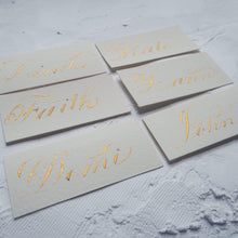 Load image into Gallery viewer, xuecalligraphy Place Cards White / Black / Modern Script Hand Written Place Cards