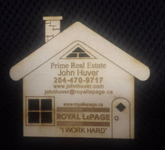 Real Estate House Magnet