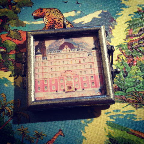 Grand Budapest Hotel inspired Shadowbox Pendant
