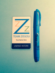 Team Zissou Unpaid Intern ID card