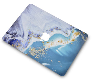 Macbook Case - Color Collection - Green Swirl with Matching Keyboard Cover ,Screen Protector ,Sleeve