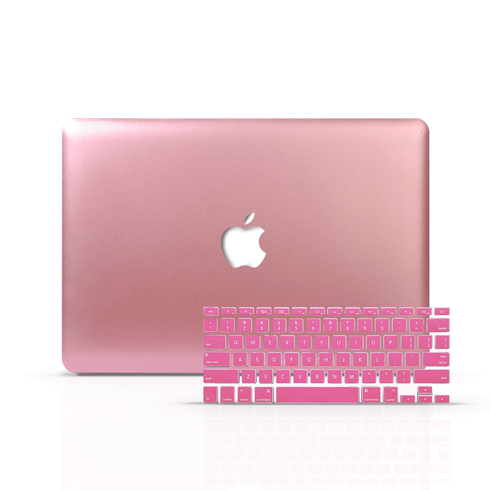 Macbook Case Bundle - Macbook Case and Keyboard Cover - Color Collection - Rose Gold