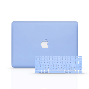 Macbook Case Bundle - Macbook Case with Keyboard Cover - Color Collection - Serenity Blue
