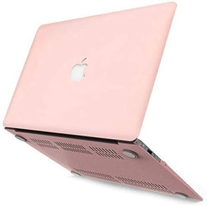 Macbook Case 5 in 1 Bundle - Color Collection - Rose Quartz with Sleeve, Keyboard Cover, Screen Protector and USB Hub 3.0