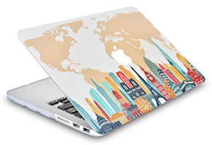 Macbook Case - Color Collection - City with Keyboard Cover, Screen Protector ,Sleeve ,USB Hub
