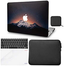 Load image into Gallery viewer, Macbook Case 5 in 1 Bundle - Color Collection - Shooting Stars with Slim Sleeve, Keyboard Cover, Screen Protector and Pouch