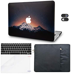 Macbook Case 5 in 1 Bundle - Color Collection - Shooting Stars with Sleeve, Keyboard Cover, Screen Protector and Webcam Cover