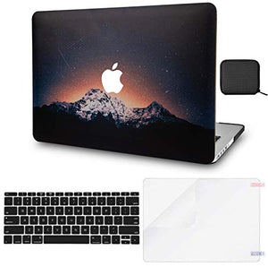 Macbook Case 4 in 1 Bundle - Color Collection - Shooting Stars with Keyboard Cover, Screen Protector and Pouch