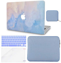 Load image into Gallery viewer, Macbook Case 5 in 1 Bundle - Paint Collection - Blue Mist with Slim Sleeve, Keyboard Cover, Screen Protector and Pouch