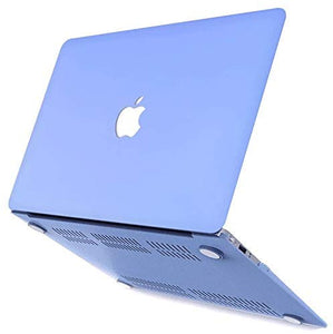 Macbook Case 4 in 1 Bundle - Color Collection - Serenity Blue with Keyboard Cover, Screen Protector and Pouch