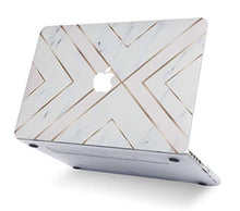 Load image into Gallery viewer, Macbook Case 5 in 1 Bundle - Marble Collection - White Marble Gold Stripes with Slim Sleeve, Keyboard Cover, Screen Protector and Pouch