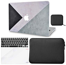 Load image into Gallery viewer, Macbook Case 5 in 1 Bundle - Color Collection - Black White Grey with Slim Sleeve, Keyboard Cover, Screen Protector and Pouch