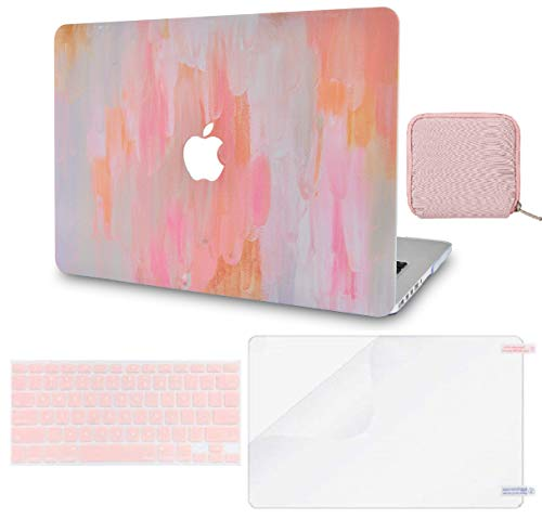Macbook Case 4 in 1 Bundle - Paint Collection - Mist 13 with Keyboard Cover, Screen Protector and Pouch