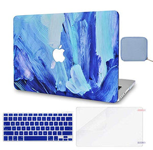 Macbook Case 4 in 1 Bundle - Paint Collection - Oil Paint 5 with Keyboard Cover, Screen Protector and Pouch
