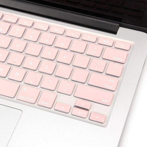 Macbook Case 4 in 1 Bundle - Color Collection - Rose Quartz with Keyboard Cover, Screen Protector and Pouch