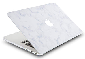 Macbook Case - Marble Collection - White Cloud Marble