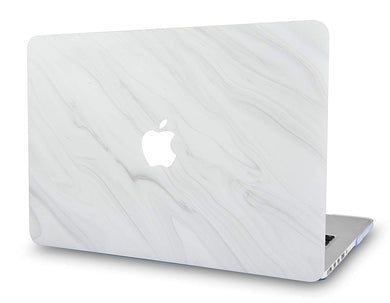 Macbook Case - Marble Collection - Pearl Marble