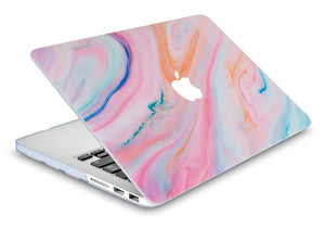 Macbook Case - Marble Collection - Rainbow Marble