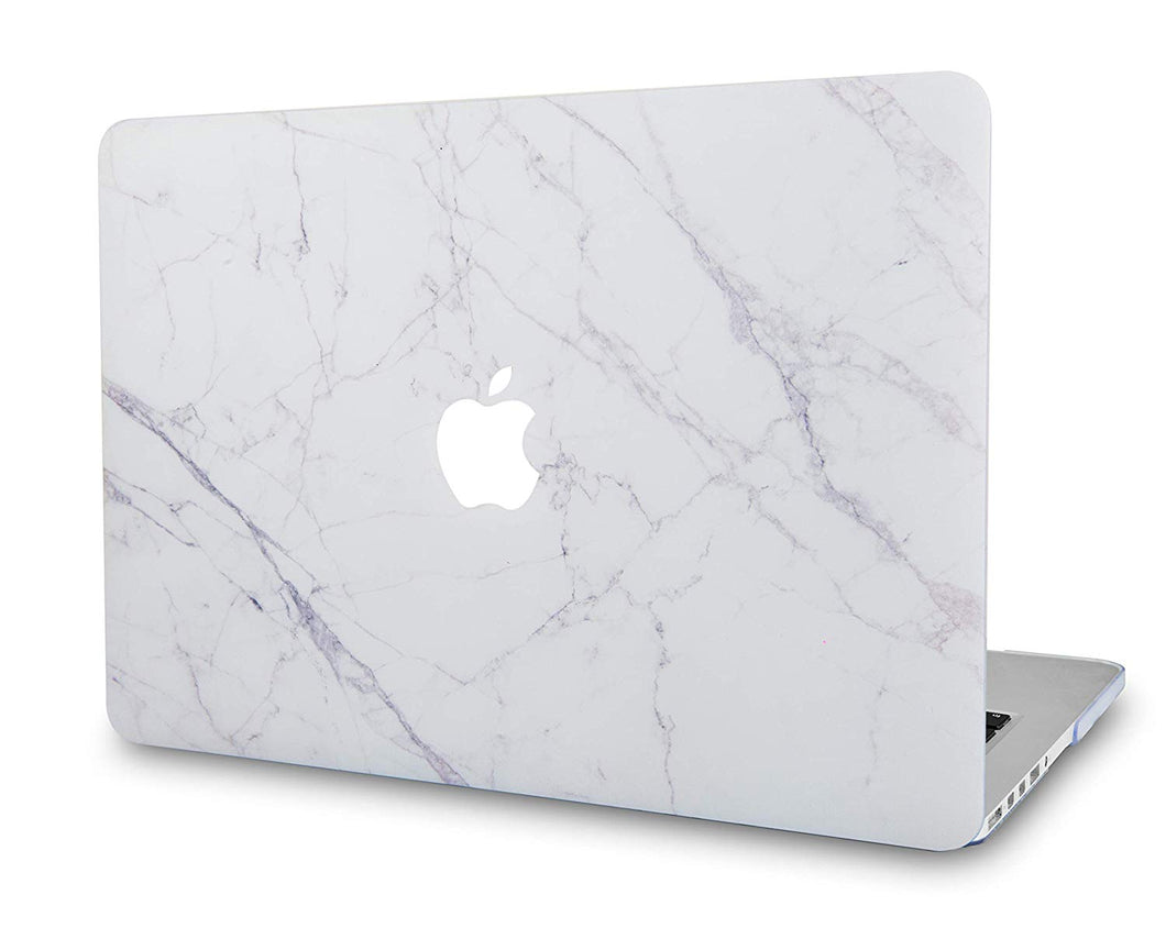 Macbook Case - Marble Collection - Ice Marble