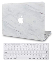 Load image into Gallery viewer, Macbook Case Bundle - Marble Collection - Silk White Marble with Keyboard Cover