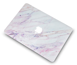 Macbook Case - Marble Collection - Pink White Marble