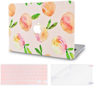 Macbook Case Bundle - Paint Collection - Orange with Keyboard Cover and Screen Protector