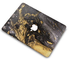 Macbook Case Bundle - Marble Collection - Portoro Marble with Keyboard Cover