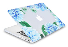 Load image into Gallery viewer, Macbook Case Bundle - Flower Collection - Blue Cornflower with Keyboard Cover