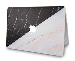 Macbook Case - Marble Collection - Granite Black Marble