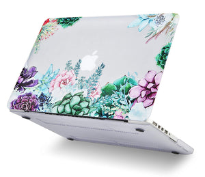 Macbook Case Bundle - Flower Collection - Floral Cluster with Keyboard Cover