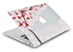 Macbook Case Bundle - Flower Collection -  Sakura with Keyboard Cover
